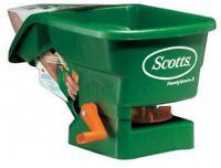 Lawn Feed Spreader Handheld Fertilizer Seed Light Scotts Garden Grass Care