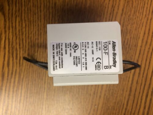 Allen Bradely Auxillary Contact 100F A40 Series B