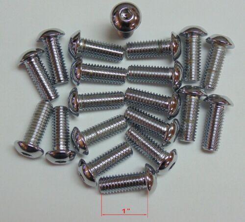 Details about  /3//8-16 x 1 length Chrome Button Head Allen Bolt 20 pack