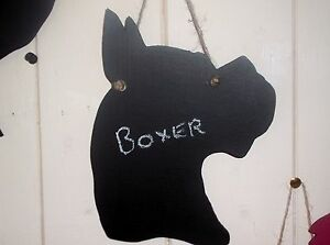 BOXER DOG HEAD SHAPED chalkboard black board Christmas birthday gift pet a - <span itemprop='availableAtOrFrom'>Scarborough, North Yorkshire, United Kingdom</span> - BOXER DOG HEAD SHAPED chalkboard black board Christmas birthday gift pet a - Scarborough, North Yorkshire, United Kingdom