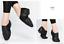 Size 6.5-8.5 Mens Women Cow Leather Black Slip On Jazz Shoes Split Sole Sneakers