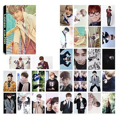 30pcs Set Cool Handsome Character LOMO Cards BTS BANGTAN BOYS Photo Poster TOP