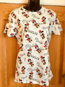 250e40a9161 Official DISNEY MINNIE MOUSE Ladies White Red T-Shirt Top Sz 8 ...