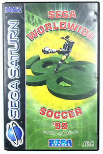 Sega-Worldwide-Soccer-039-98-Jeu-Sega-Saturn-Avec-notice-Fonctionnel-PAL