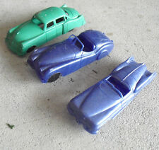 "Lot of 3 Vintage 1950s Soft Plastic Cars 4"" Long"