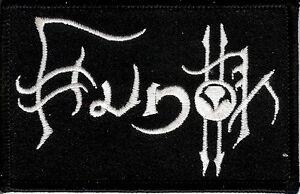 Hunok White Logo patch Paganism Black Metal Vinterriket Marblebog Seighetnar