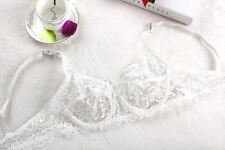 Summer Ultra-thin See-Through Lace Bra Non-Pad Push Up Bras Underwire Underwear