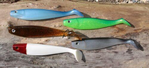 13 cm 3 Größen Gummifisch 11 cm 5 Farben Delalande Shad GT 9 cm