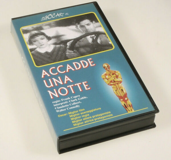 (prl) Videocassetta Vhs Cassette Accadde Una Notte Frank Capra Gable Goede Reputatie Over De Hele Wereld