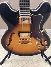 Epiphone Sheraton II electric guitar sunburst finish 335 Body Gold Hardware