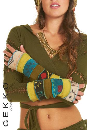 fleece GLOVES ARM WARMERS GEKKO wrist warmers fingerless gloves,Pixie clothes