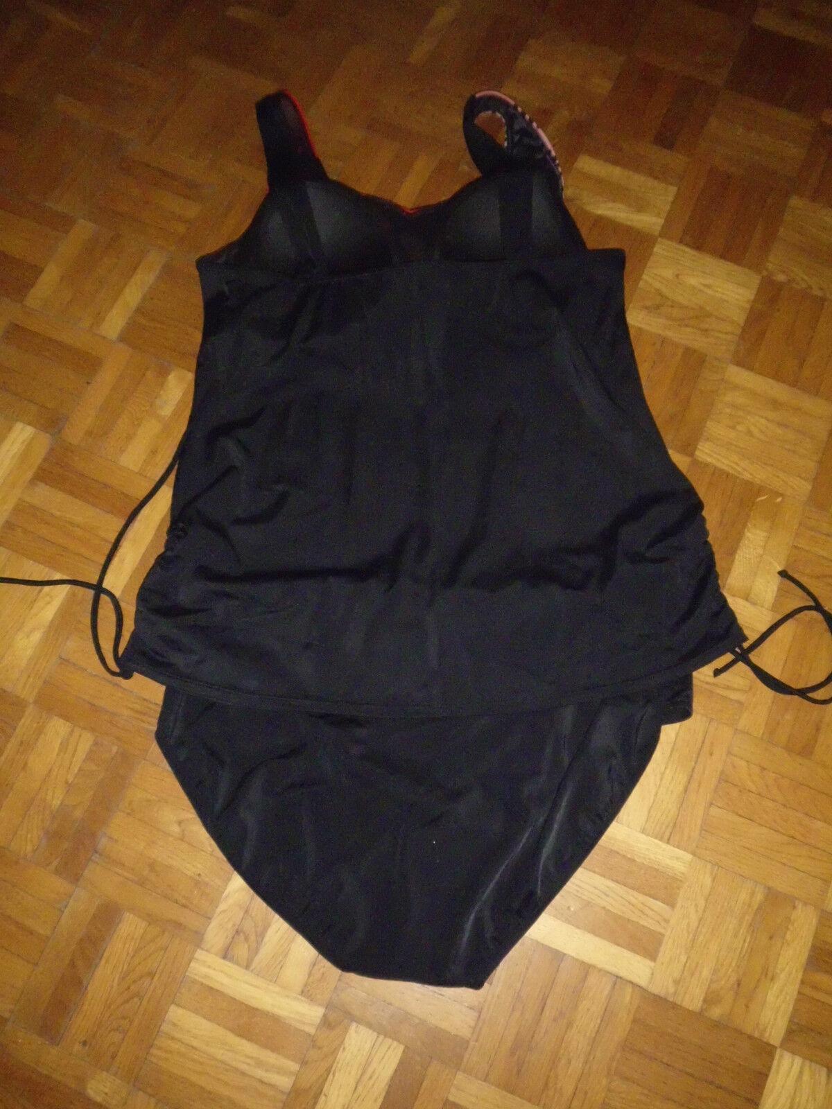 Tankini   Badekleid   Badeanzug NEU NEU NEU 54 B BH unterfüttert schwarz rot oder blau | Moderne Technologie  | Heißer Verkauf  596452