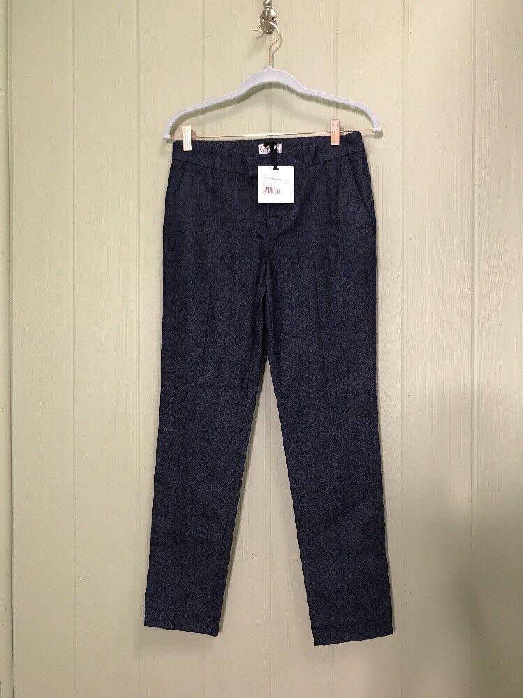 Red Valentino Tailored Skinny Denim Dark bluee Trouser Dress Work Pants 27