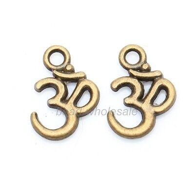 100pcs New hot sale 3 COLORS ohm om Yoga Sign Buddha Charms Pendants U PICK