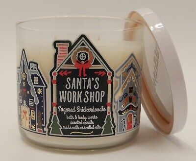 1 Bath /& Body Works Santa/'s Workshop Sugared Snickerdoodle 3 Wick Candle 14.5 oz