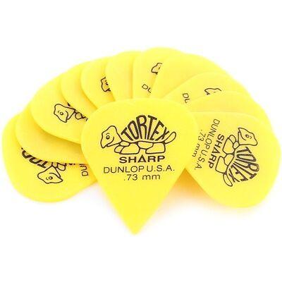 Dunlop 412P.73 Tortex Sharp .73mm Yellow Guitar Pi