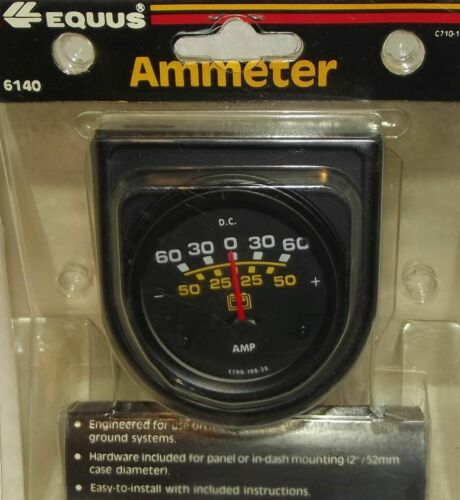 2 Inch Black Ammeter Vintage Equus 6140