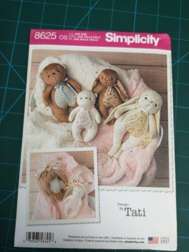 Bolsas De Regalo Patrones de costura simplicidad ~ 8625 Childs Niños Bebé Animales De Peluche
