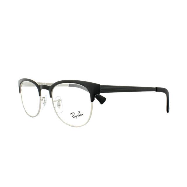 58b4f307a2 Ray-Ban Glasses Frames 6317 2832 Top Black on Matte Silver Mens Womens 49mm