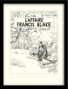 Ted-BENOIT-AFFICHE-SIGNEE-BLAKE-ET-MORTIMER-L-039-AFFAIRE-FRANCIS-BLAKE-333-ex-n-s