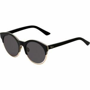 2a1465dc79f0e Dior Sideral 1 S J63 Y1 Black Rose Gold Plastic Round Sunglasses ...
