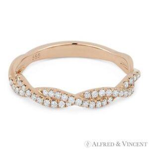 0-25ct-Round-Diamond-Anniversary-Band-Stackable-Right-Hand-Ring-in-14k-Rose-Gold