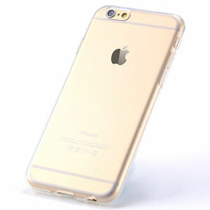 For-Apple-iPhone-6-6S-Plus-Thin-Rubber-Silicone-Gel-Hybrid-TPU-Clear-Case-Cover