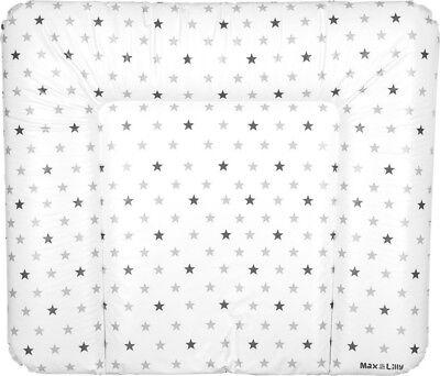 Max /& Lilly Wickelauflage PVC mit Sterne Muster Grau Baby Wickelauflage NEU