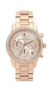 41b9c6d832b9 Michael Kors MK6357 Ritz Rose Gold-Tone Chronograph Women s Watch ...