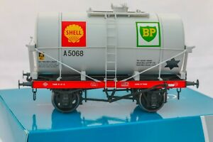 Dapol-O-Gauge-7F-058-010-14Ton-SWB-039-Class-A-039-Tanker-Wagon-039-Shell-BP-039-Dove-grey