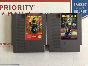 Nes Ninja Gaiden 1 2 Nintendo 18946110073 Ebay