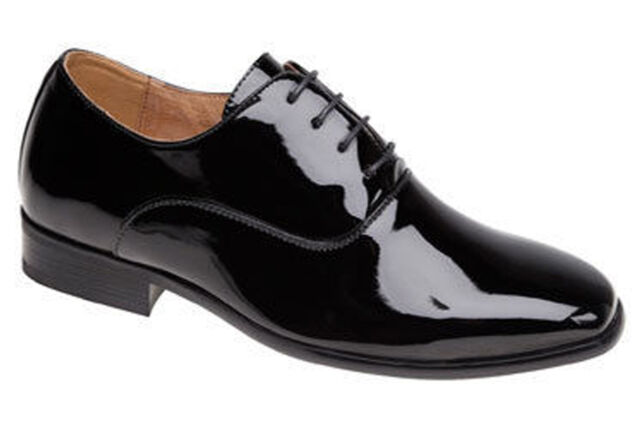 8c352683f6f Goor Shiny Patent Leather Lined Lace Up Formal Mens Boys Wedding Shoes  UK6-14
