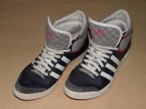 Details zu Adidas Top Ten Hi Sneaker Sleek Series dunkel blau Gr. 40 23