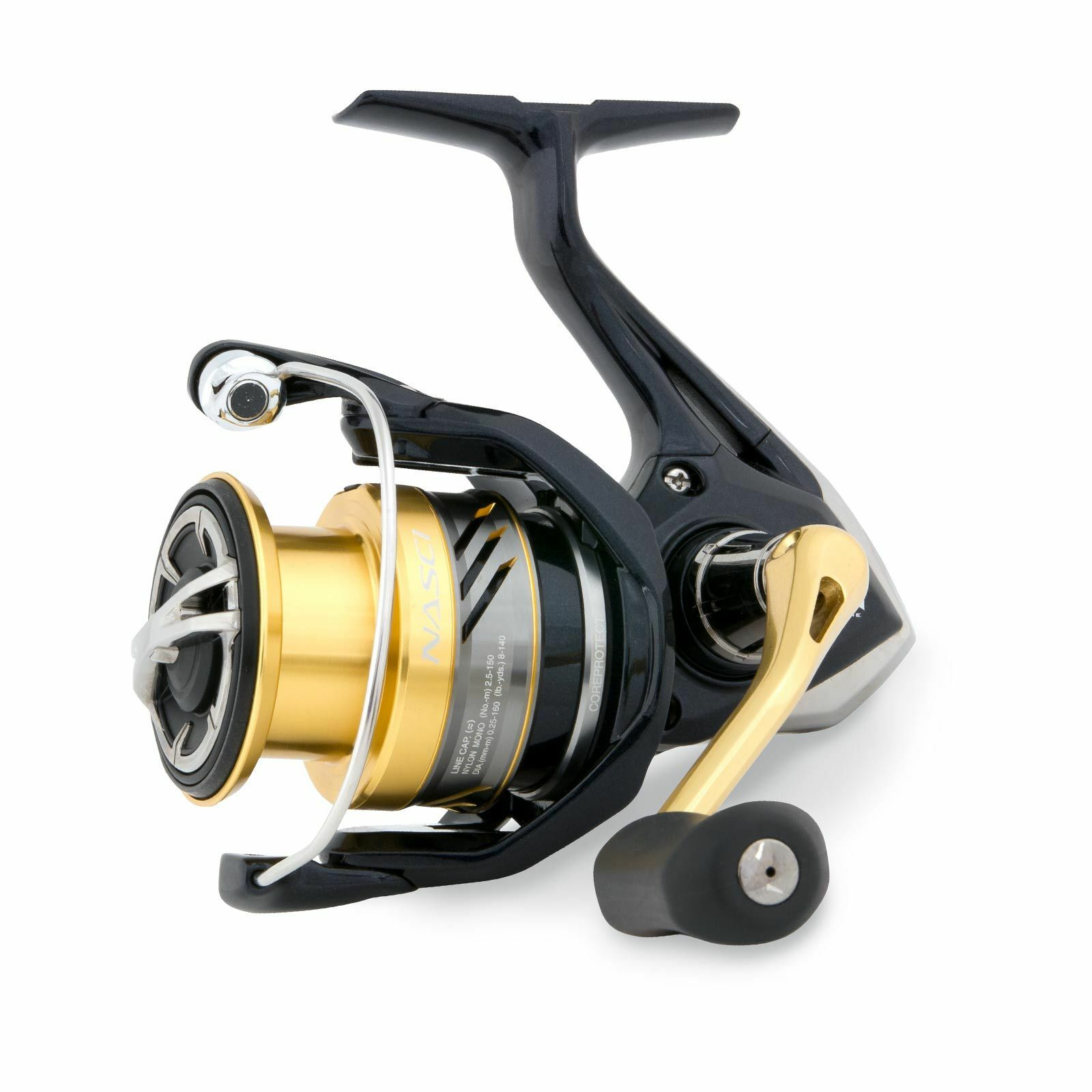 Shimano  Angelrolle Angeln - Nasci 4000 FB XG Stationärrolle mit Frontbremse