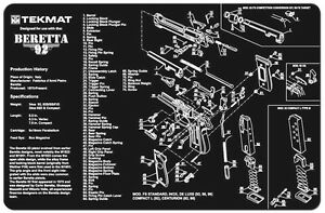 Beretta M9 Or 92 Armorers Gun Cleaning Bench Mat W