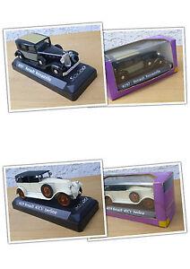 ## 2x Solido Modelle Renault 1:43, 1x Reinastella, 1x 40CV berline ##