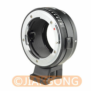 Nikon-Nikkor-Lens-To-Sony-E-FE-mount-adapter-with-8-stop-aperture-A7-A6000-NEX
