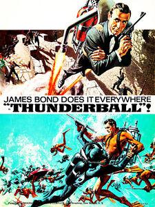 Thunderball 1965 Movie Poster  #2