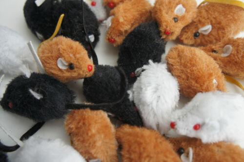 BARGAIN PACK CATNIP CAT KITTEN TOYS 12 X RATTLE SMALL FAUX FUR CATNIP MICE