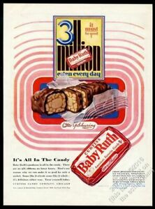 1928 Baby Ruth candy bar color art 3 Million Every Day ...