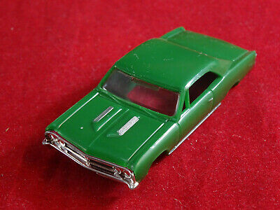New 1967 Green//Wh Camaro MoDEL MoToRING T-jet HO Scale Slot Car Body Aurora RRR