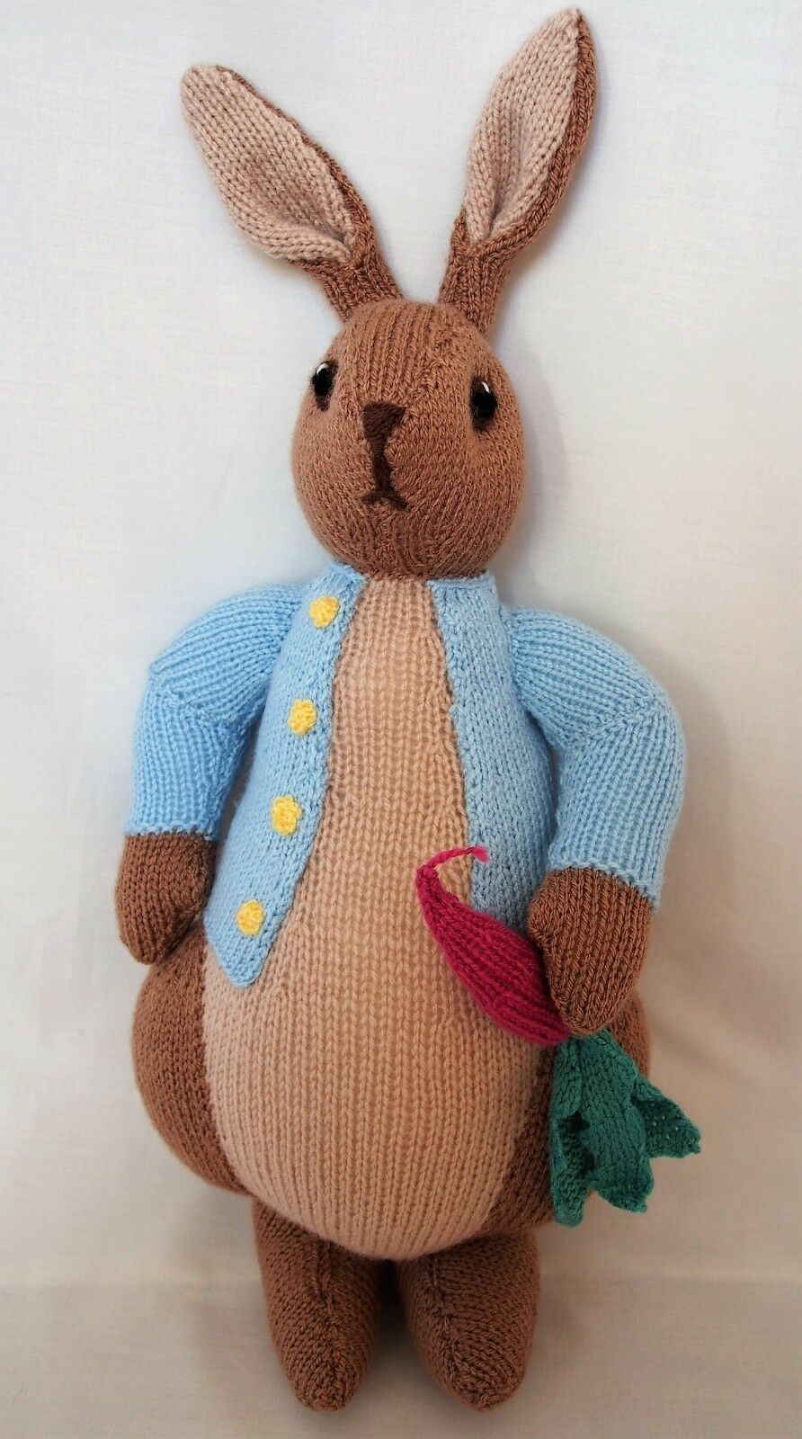 Peter rabbit hand knitted beatrix potter soft stuffed toy