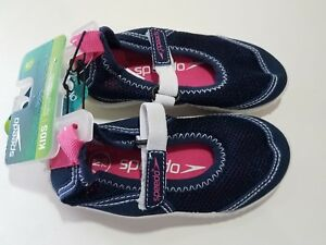 cec81bbc01a Image is loading Speedo-Toddler-Girls-Mary-Jane-Water-Shoes-Navy-