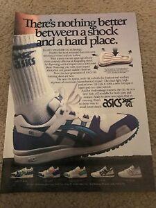 1989 ASICS GEL LYTE II 101 Running Shoes Poster Print Ad Lady GEL EPIRUS RARE