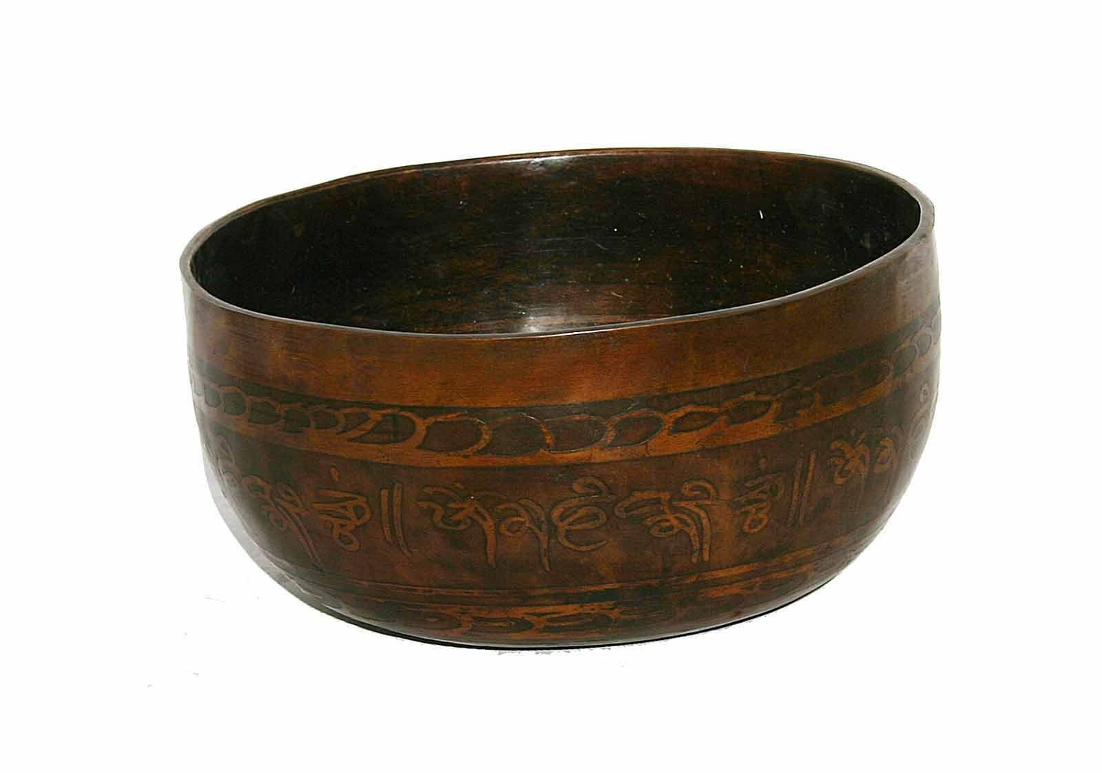 Tibet Klangschale  Singing Bowl   Hörprobe  690g MF2F