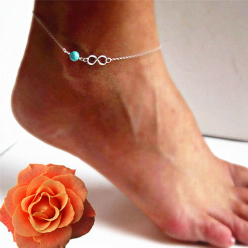Fashion Bohemian Bead Infinity Charm Chain Anklet Bracelet Barefoot Mewelry N/_ws