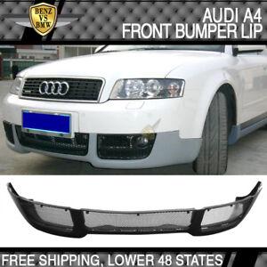 fits 02 03 04 audi a4 b6 v style front bumper lip spoiler poly rh ebay com 2012 Audi A4 2014 Audi A4
