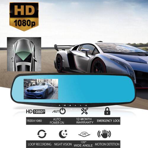 2018 New 4.3/'/' 1080P Wide Angle Car Auto Camera DVR Mirror Dash Cam Recorder Kit