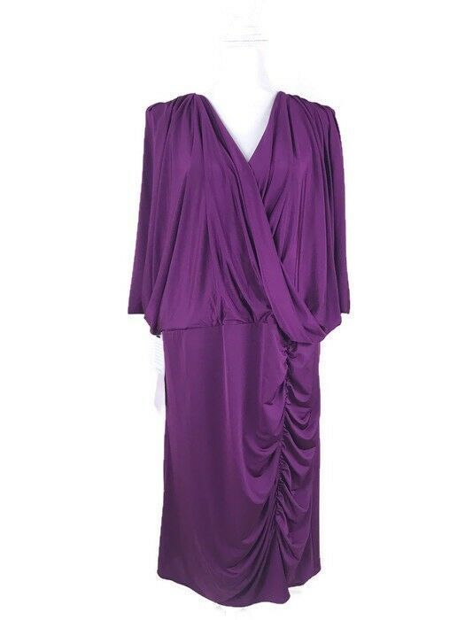 JS Collections Womens Size 22W Draped Ruched Dress Flattering