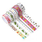 DIY Adhesive Sticker Floral Washi Sticky Tape Decor Cartoon Paper Roll 32 Colors